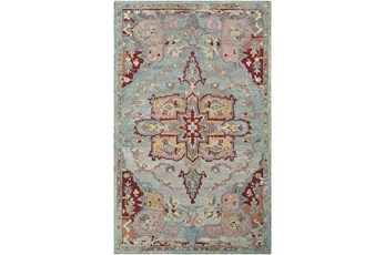 96X120 Rug-Centonze Traditional Red And Blue