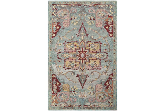 96X120 Rug-Centonze Traditional Red And Blue - 360