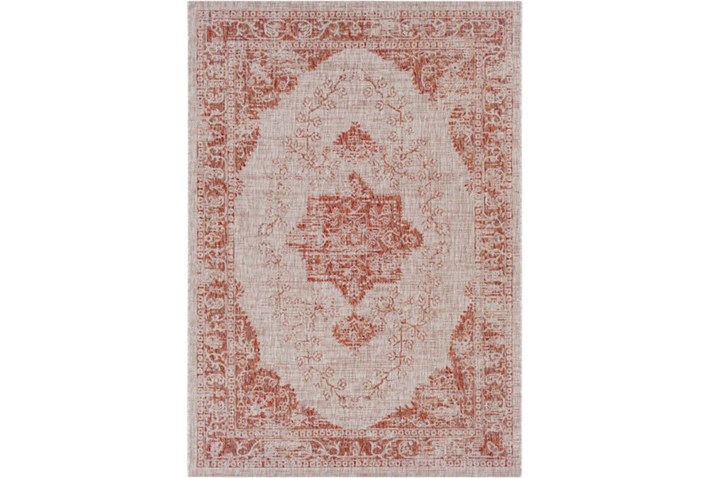 24X36 Outdoor Rug-Regal Medallion Orange
