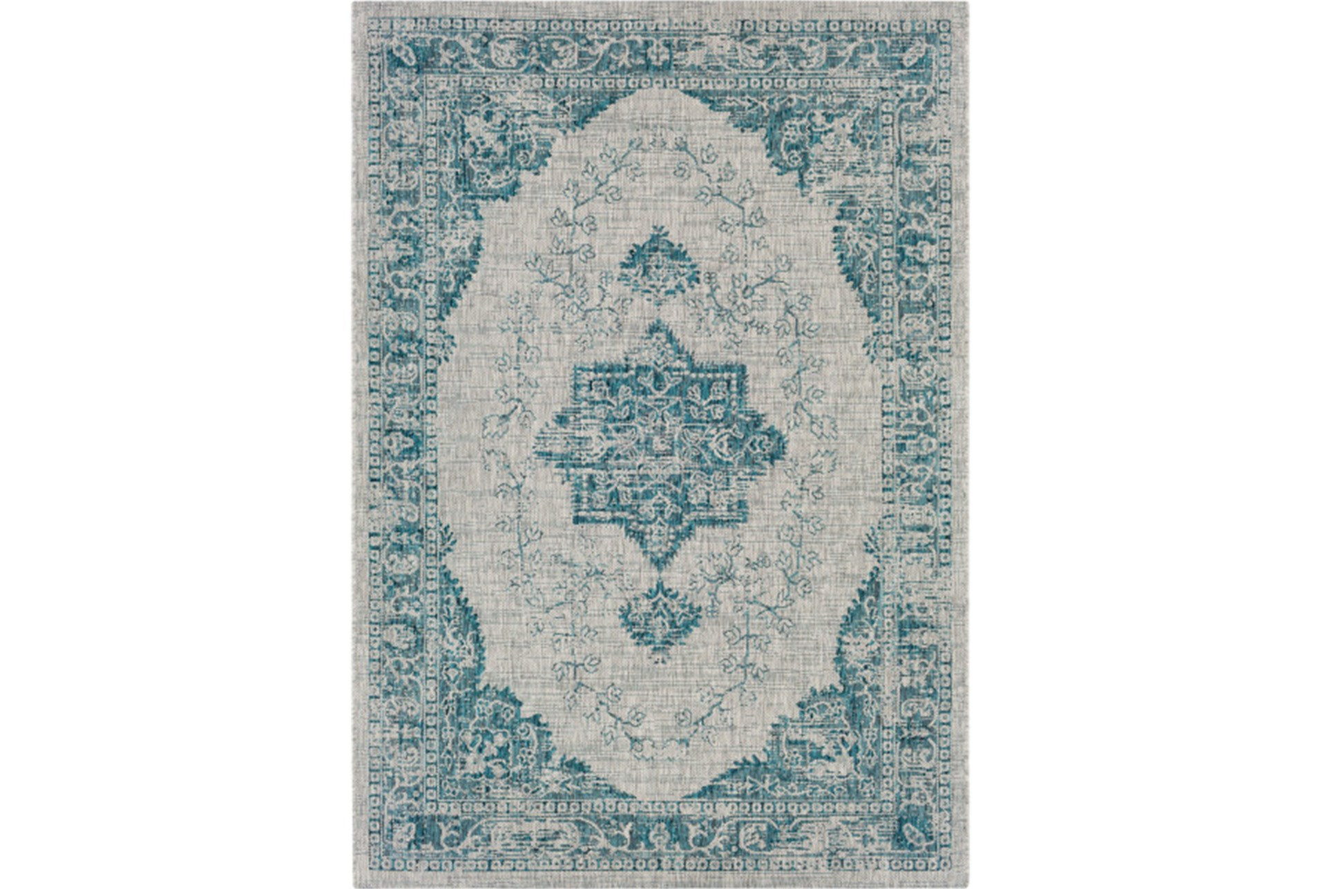 63x90 Outdoor Rug Regal Medallion Aqua Qty 1 Has Been Successfully Added To Your Cart