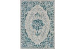 94X123 Outdoor Rug-Regal Medallion Aqua