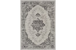 24X36 Outdoor Rug-Regal Medallion Black