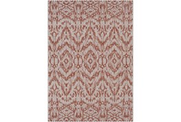 63X90 Outdoor Rug-Regal Ikat Orange
