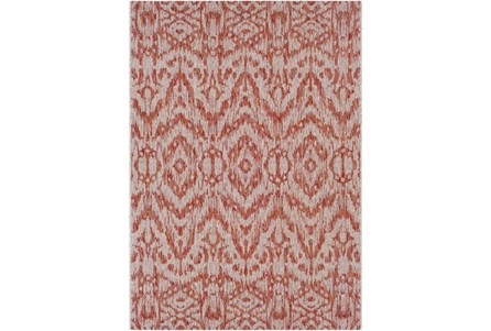 94X123 Outdoor Rug-Regal Ikat Orange