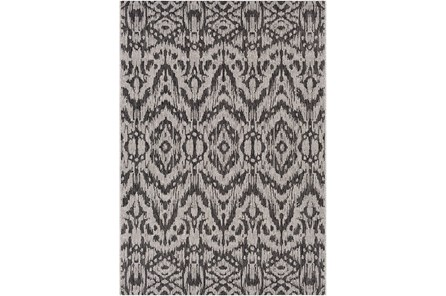 24X36 Outdoor Rug-Regal Ikat Black