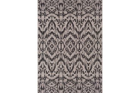 63X90 Outdoor Rug-Regal Ikat Black
