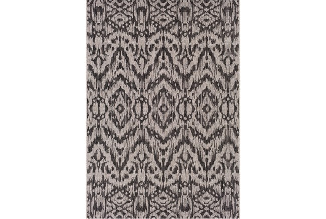 63X90 Outdoor Rug-Regal Ikat Black - 360