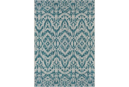 94X123 Outdoor Rug-Regal Ikat Aqua