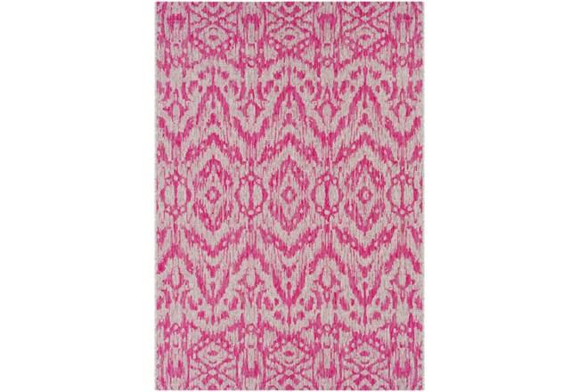 24X36 Outdoor Rug-Regal Ikat Bright Pink - 360