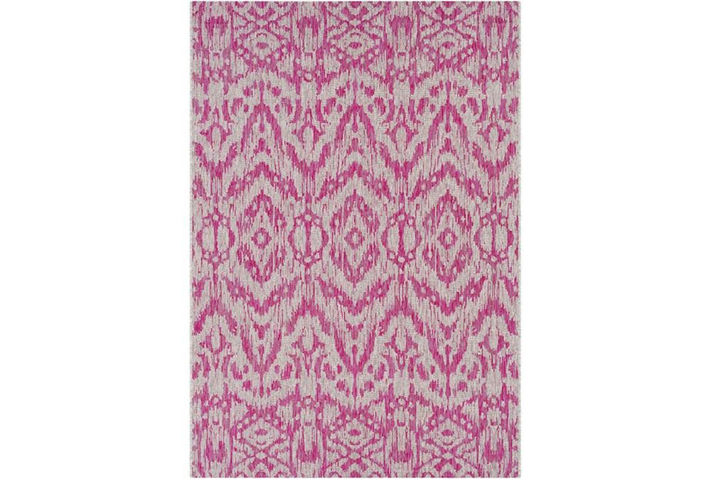 63X90 Outdoor Rug-Regal Ikat Bright Pink