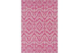 94X123 Outdoor Rug-Regal Ikat Bright Pink