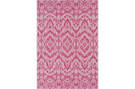 94X123 Outdoor Rug-Regal Ikat Bright Pink