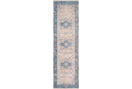 31X108 Rug-Tasha Traditional Blue