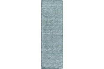 30X96 Rug-Peter Wool Sheen Teal