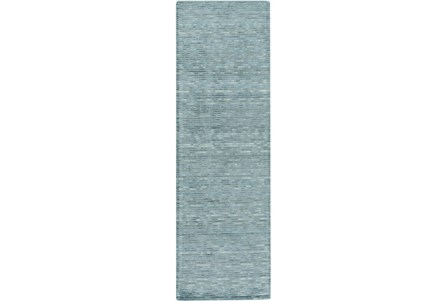 30X96 Rug-Peter Wool Sheen Teal
