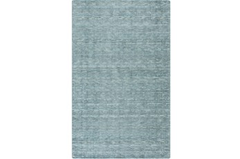 96X132 Rug-Peter Wool Sheen Teal