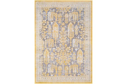 63X87 Rug-Willow Traditional Yellow - Main