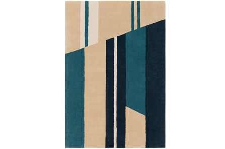 96X120 Rug-Modern Color Block Emerald