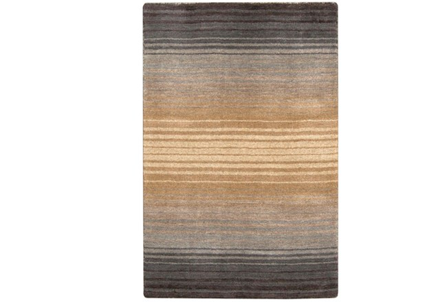 39X63 Rug-Tan And Charcoal Ombre Stripe - 360