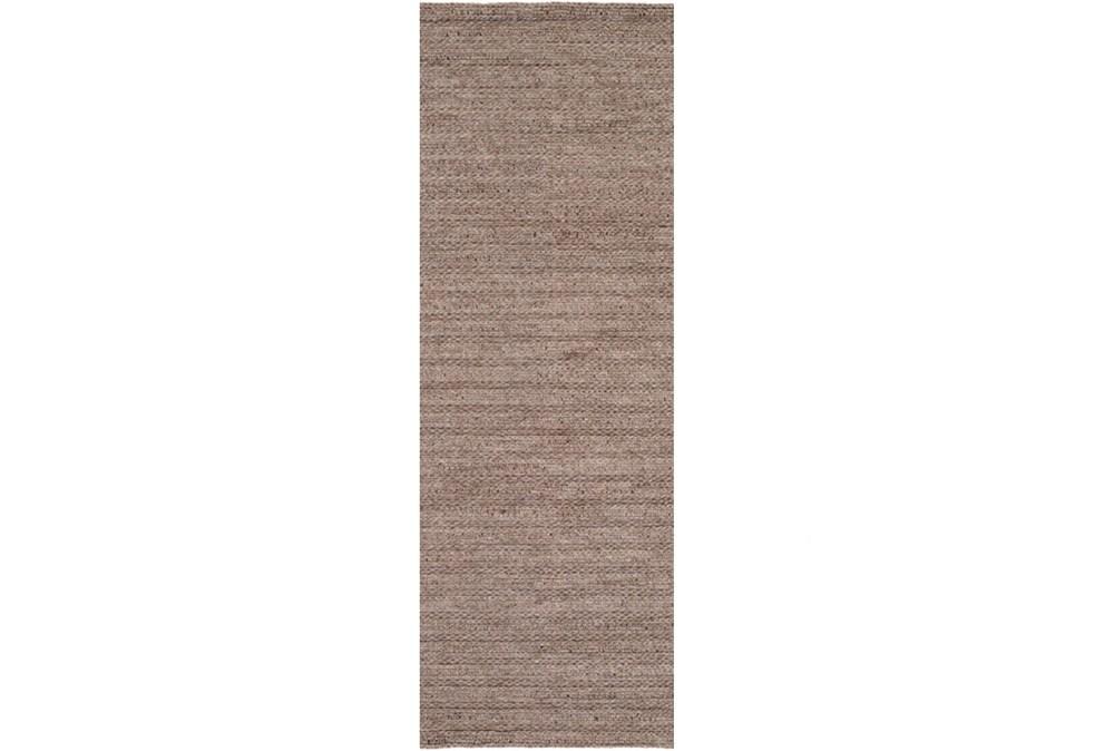 30X96 Rug-Braided Wool Blend Mushroom