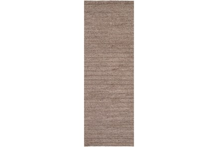 30X96 Rug-Braided Wool Blend Mushroom
