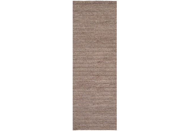 30X96 Rug-Braided Wool Blend Mushroom - 360
