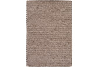 72X108 Rug-Braided Wool Blend Mushroom