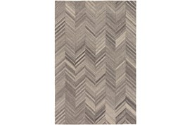 60X90 Rug-Wool Tufted Chevron Grey Tones