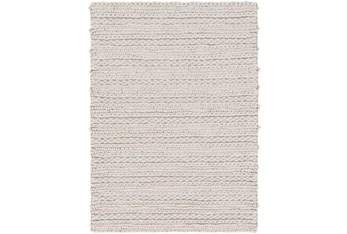 2'x3' Rug-Braided Wool Blend Grey