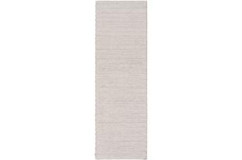 30X96 Rug-Braided Wool Blend Grey