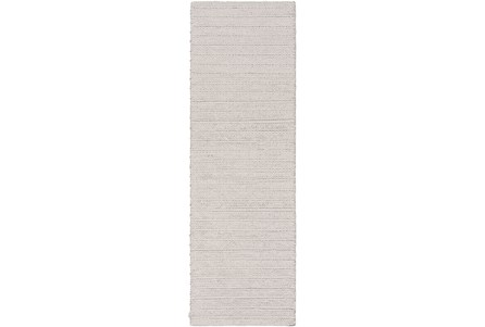 30X96 Rug-Braided Wool Blend Grey