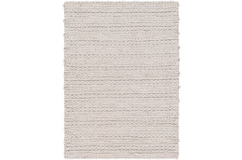 48X72 Rug-Braided Wool Blend Grey