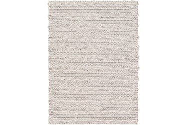 4'x6' Rug-Braided Wool Blend Grey