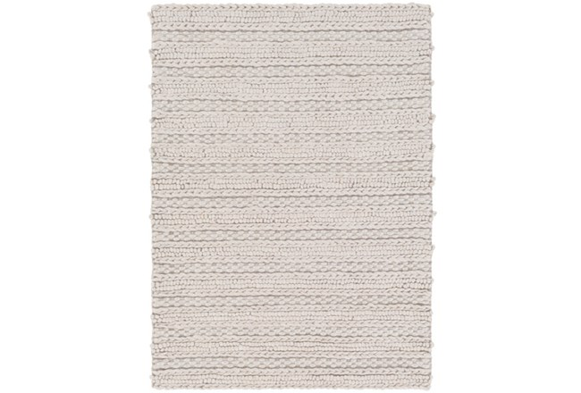 48X72 Rug-Braided Wool Blend Grey - 360