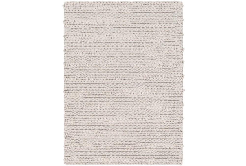 72X108 Rug-Braided Wool Blend Grey
