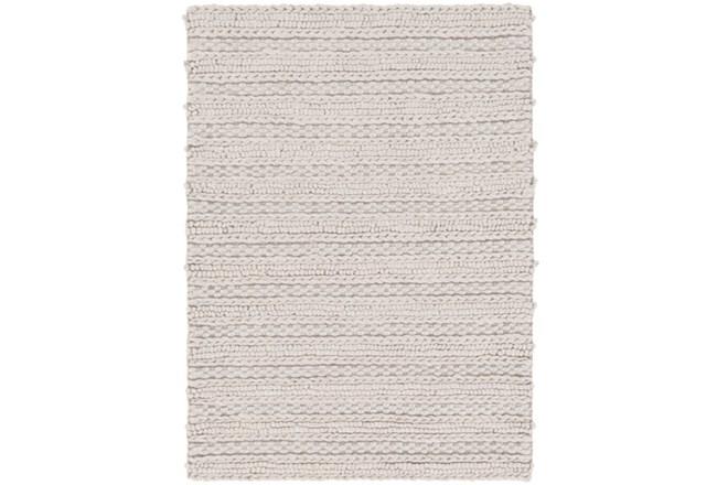 72X108 Rug-Braided Wool Blend Grey - 360