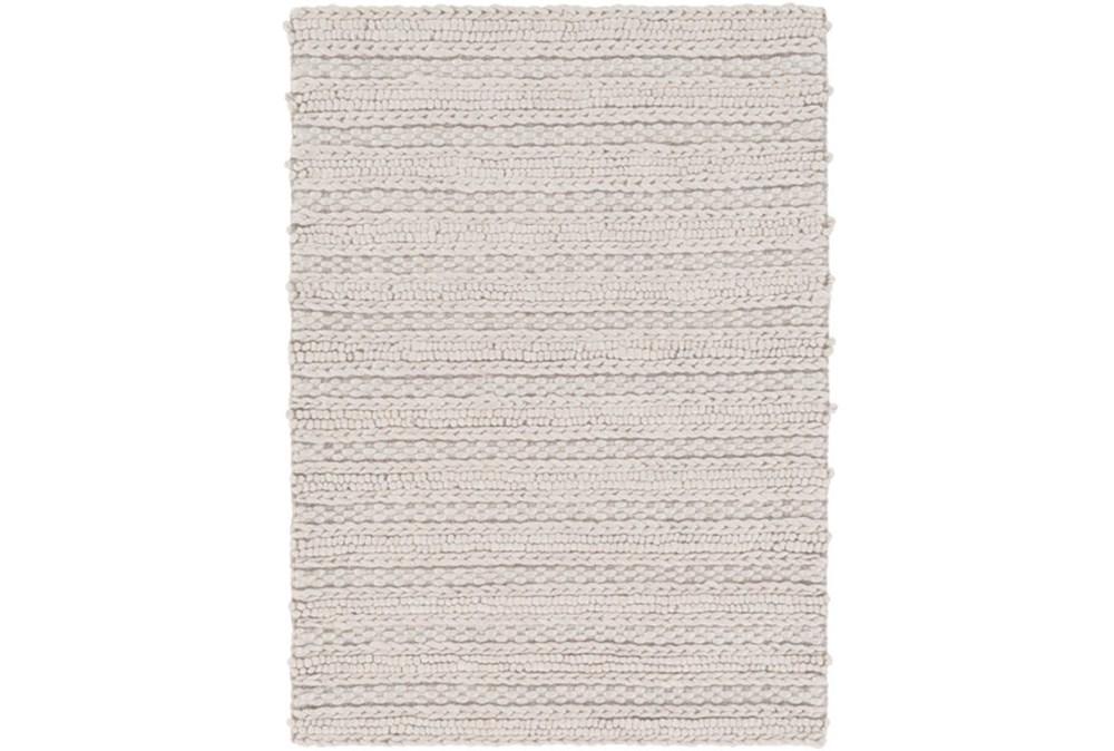 8'x10' Rug-Braided Wool Blend Grey