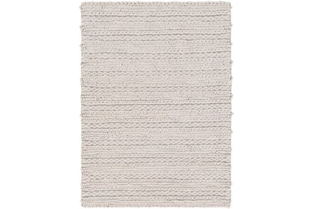 96X120 Rug-Braided Wool Blend Grey