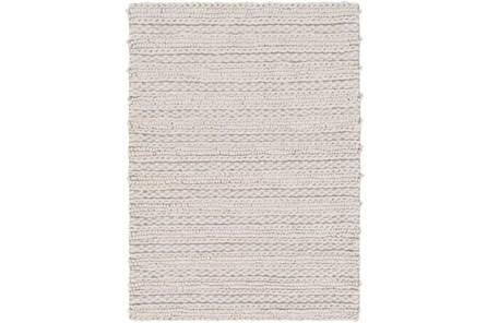 96X120 Rug-Braided Wool Blend Grey