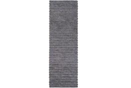 """2'5""""x8' Rug-Braided Wool Blend Charcoal"""