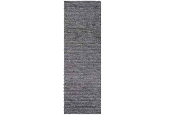 30X96 Rug-Braided Wool Blend Charcoal - 360