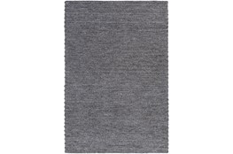 48X72 Rug-Braided Wool Blend Charcoal
