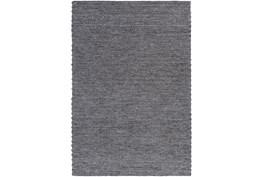 4'x6' Rug-Braided Wool Blend Charcoal