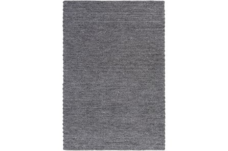 48X72 Rug-Braided Wool Blend Charcoal - Main