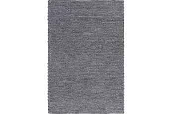 72X108 Rug-Braided Wool Blend Charcoal