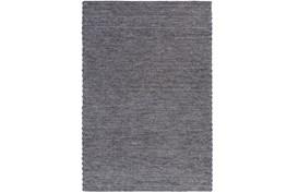 96X120 Rug-Braided Wool Blend Charcoal