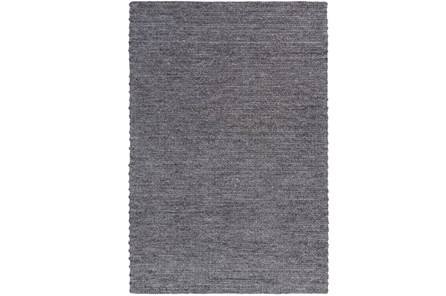 96X120 Rug-Braided Wool Blend Charcoal