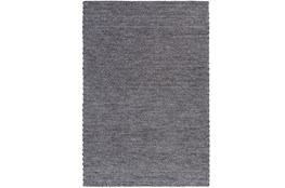 108X156 Rug-Braided Wool Blend Charcoal