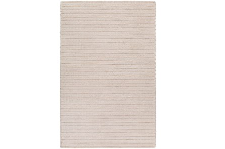 24X36 Rug-Braided Wool Blend Ivory