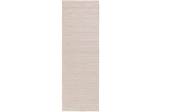 30X96 Rug-Braided Wool Blend Ivory